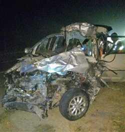एक्सप्रेस वे पर दुर्घटना में एम्स के तीन डॉक्टरों की मौत, चार घायल