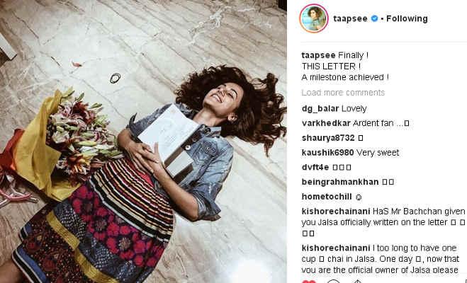 अमिताभ ने तापसी और विक्की के घर भिजवाया बुके संग लेटर,'मनमर्जियां' एक्टर्स के बारे में कही ये बात