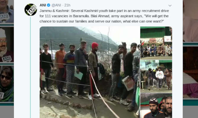 पुलवामा हमले के 5 दिन बाद सेना में भर्ती होने के लिए उमड़े देश भक्त कश्मीरी युवा