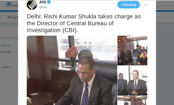 ऋषि कुमार शुक्ला cbi के नए डायरेक्टर,पश्चिम बंगाल में मचे सियासी घमासान के बीच दिल्ली में संभाला चार्ज