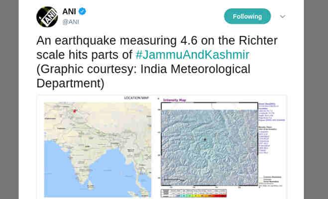 जम्मू-कश्मीर के कई इलाकों में भूकंप,दोबारा आने की आशंका से अलर्ट हुए लोग