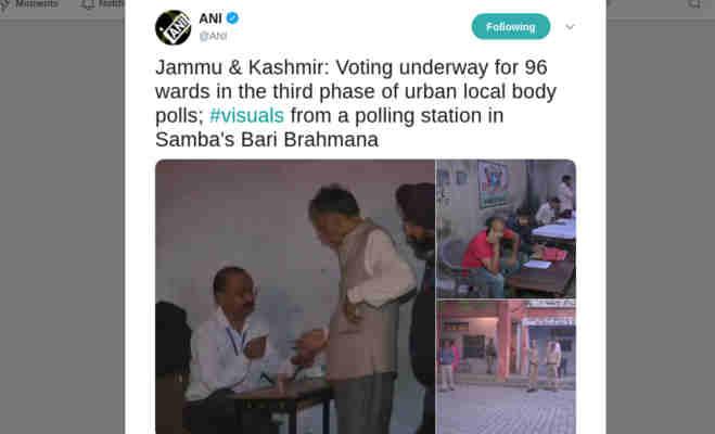 जम्मू-कश्मीर निकाय चुनाव : तीसरे चरण का हो रहा है मतदान,सुरक्षा के किए गए कड़े इतजाम