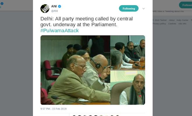 pulwama terror attack: गृहमंत्री ने की सर्वदलीय बैठक,गुलाब नबी आजाद बोले टेरर के खात्मे में कांग्रेस सरकार के साथ