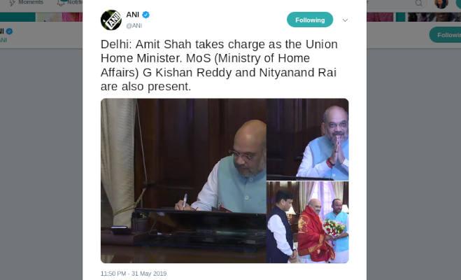 अमित शाह का गृहमंत्रालय में हुआ भव्य स्वागत,इन मंत्रियों ने भी शुरू किया कामकाज