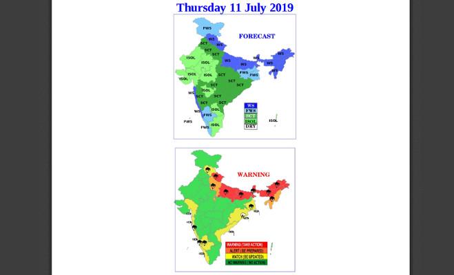 मौसम : नाॅर्थ-ईस्ट और उत्तर भारत में मूसलाधार बारिश,रेड अलर्ट जारी