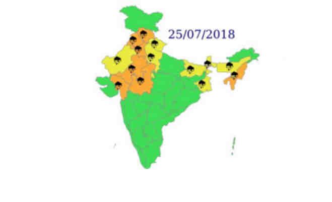 अभी चलती रहेगी मानसून की फुहार,उत्तर भारत में रुक-रुक कर तो पश्चिमी में जम कर बरसेंगे बादल
