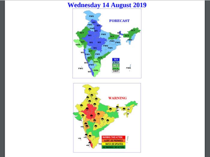 मौसम : केरल,महाराष्ट्र,मध्य प्रदेश के लिए रेड अलर्ट! उत्तर भारत में होगी भारी बारिश