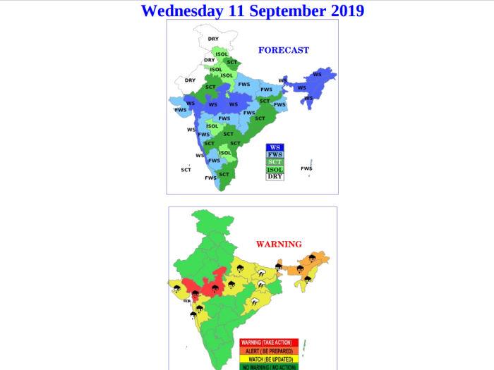 माैसम : गुजरात में भारी बारिश को लेकर रेड अलर्ट,मध्य प्रदेश में भी नहीं है राहत