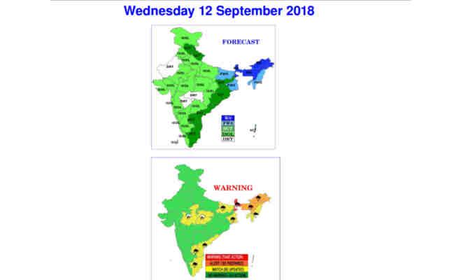 उत्तर भारत में आज भी नहीं है बारिश से राहत,इन इलाकों के लोग रेन कोट लेकर निकलें बाहर