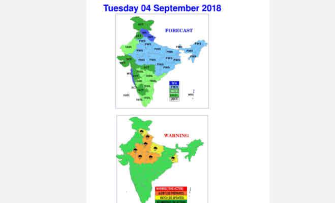 मौसम विभाग की चेतावनी,आज यूपी-दिल्ली समेत इन राज्यों में झमाझम बरसेगा पानी
