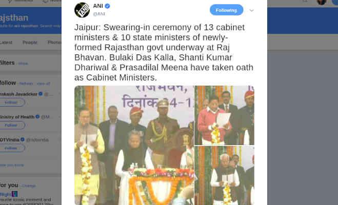 राजस्थान में सीएम गहलाेत के मंत्रिमंडल ने ली शपथ,पढें 13 कैबिनेट और 10 राज्य मंत्रियों के नाम