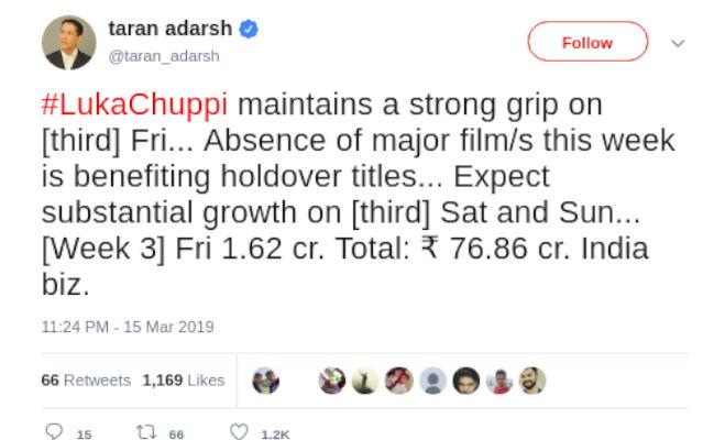 box office collection: 'बदला' और 'कैप्टन मार्वल' ने एक हफ्ते में की इतनी कमाई,कार्तिक-कृति की 'लुका-छुपी' जारी