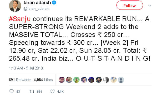संजू की अब तक की कमाई ने आने वाली फिल्मों के लिए खडी की ये 6 मुसीबतें,300 करोड़ से सिर्फ इतना दूर