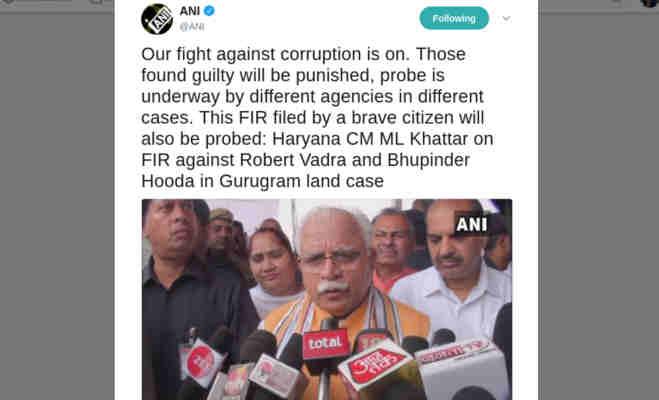 राहुल गांधी के जीजा वाड्रा पर फिर आर्इ एक बड़ी मुसीबत,सीएम खट्टर का इशारा नहीं मिलेगी राहत