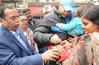 3.85 लाख बच्चों को पिलाई गई पोलियो की खुराक