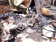 माघ मेला शिविर में आग, 45 मिनट में आई एक किमी से दमकल