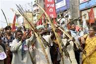 वाम-जनवादी संगठनों ने किया प्रदर्शन