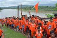 दोमुहानी से कपाली शिव मंदिर तक कलश यात्रा निकाली