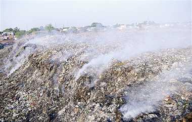 Image result for कूड़े में आग kanpur