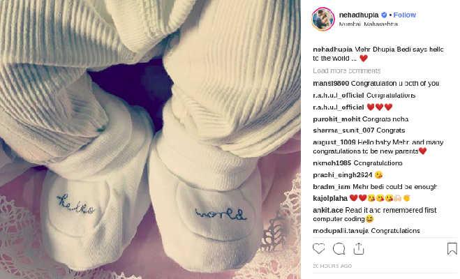 नेहा-अंगद की बेटी मेहर की पहली तस्वीर आई सामने,न्यू बाॅर्न बेबी ने फैंस से ऐसे की बात