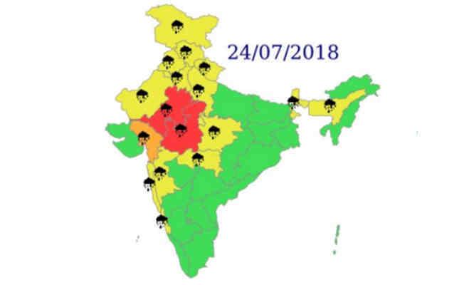 मंगलवार को भी रहेगा मानसून का जलवा,इन राज्यों में झमाझम बारिश की संभावना
