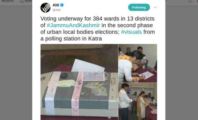 जम्मू-कश्मीर स्थानीय निकाय चुनाव : दूसरे चरण की वोटिंग जारी,चप्पे-चप्पे पर तैनात हैं सुरक्षा कर्मी