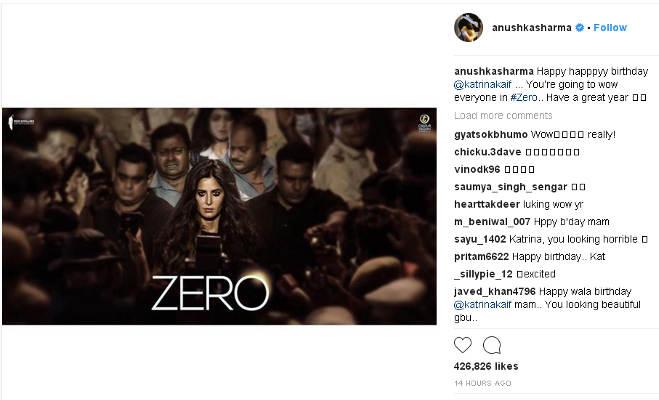 कैटरीना के बर्थडे पर जीरो की टीम ने दिया खास तोहफा,शाहरुख-अनुष्का ने कही ये बात