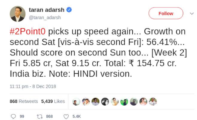 box office collection: दूसरे दिन सारा की 'केदारनाथ' ने कमाए इतने,रजनी-अक्षय रह गए देखते