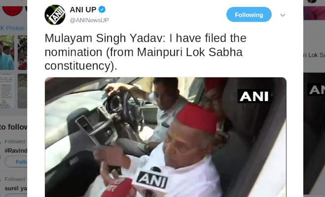 मुलायम सिंह ने मैनपुरी से भरा पर्चा,अखिलेश ने की जनसभा
