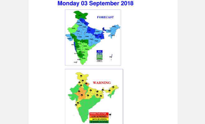 आज उत्तर भारत के इन इलाकों में भारी बारिश के आसार,जानें अगले 24 घंटे तक के मौसम का हाल