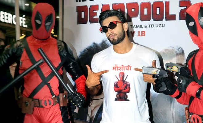 डेडपूल सुपरहीरो के साथ रणवीर सिंह दिखे एक्शन मोड में,डेडपूल 2 से है ये खास कनेक्शन