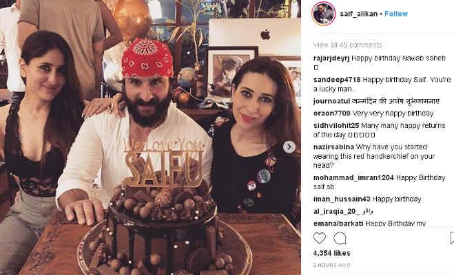 तस्वीरें : सारा ने करीना संग पिता सैफ अली खान का बर्थडे किया आधी रात को सेलीब्रेट,तैमूर दिखे नदारद