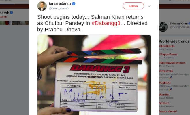 सलमान के बर्थप्लेस इंदौर में शूट हो रहा 'दबंग 3' का पहला सीन,शूटिंग शुरु होने से पहले किया बचपन याद
