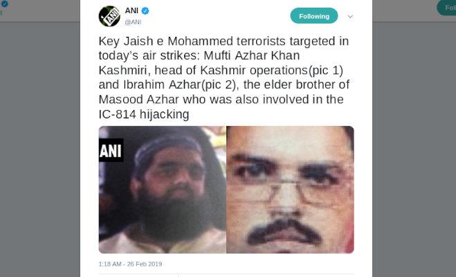 surgical strike 2 में जैश-ए-मोहम्मद की टॉप लीडरशिप साफ,मसूद अजहर के भाइयों समेत 300 से अधिक आतंकी ढेर