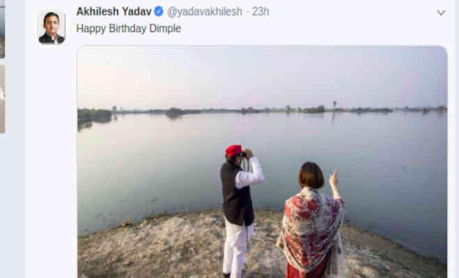अखिलेश यादव ने एेसे मनाया बीवी डिंपल व मायावती का बर्थडे,यहां देखें तस्वीरें