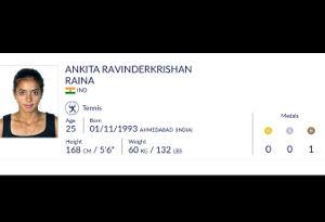 अंकिता रविन्द्रकृष्ण ने कांस्य जीत कर भारत को दिलाया 16वां पदक