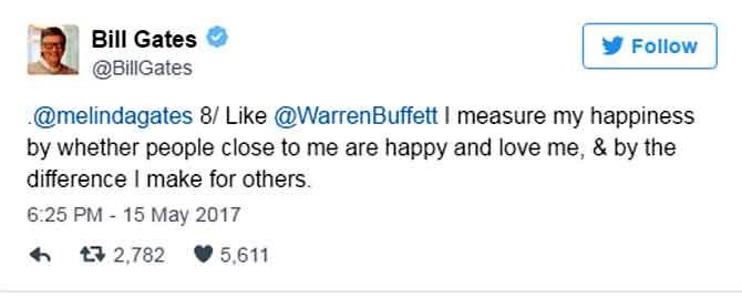 दुनिया के सबसे अमीर बिल गेट्स ने टि्वटर पर दिए वो दस जवाब,जो आपकी जिंदगी बदल देंगे