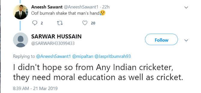 बुमराह ने इन जनाब से हाथ नहीं मिलाया! तो पूरा इंडिया हाथ धोकर पड़ गया इनके पीछे