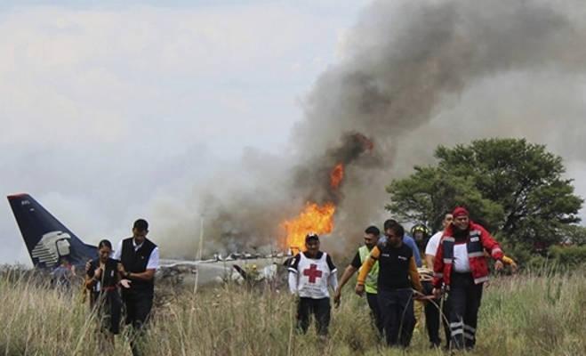 मेक्सिको में यात्री विमान दुर्घटनाग्रस्त,97 लोग घायल,दो की हालत गंभीर