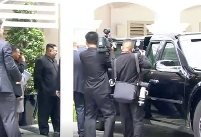 सिंगापुर में बैठक के बाद ट्रंप ने किम को दिखाई अपनी 'द बीस्ट' कार, ये हैं फीचर्स