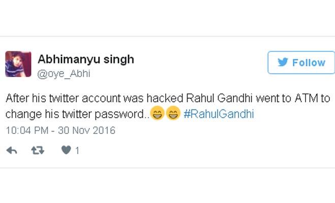 लोग पूछ रहे हैं राहुल गांधी के टि्वटर अकाउंट का पासवर्ड क्या है? छोटा भीम!