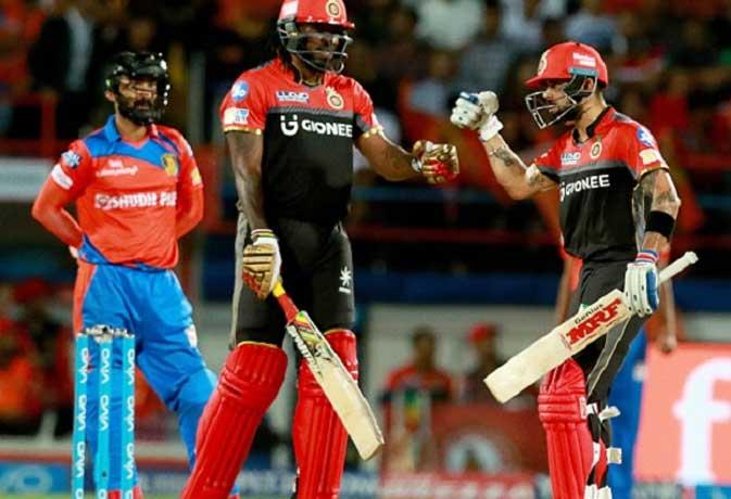 IPL 2017 : 20वां मैच रॉयल चैलेंजर्स टीम बैंगलोर के नाम, बेहतरीन 21 रनों से दी गुजरात लॉयन्स को चटाई धूल