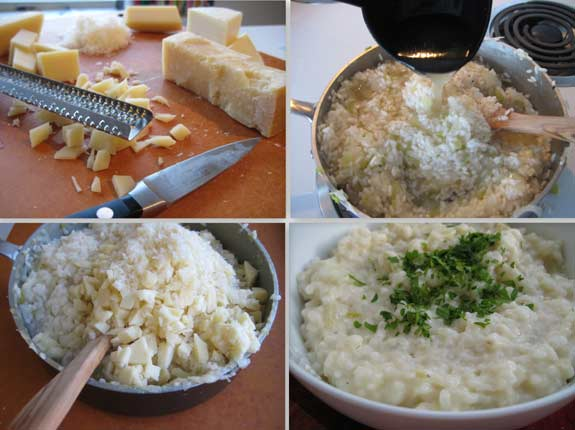 Ingredients for  Cheese risotto
