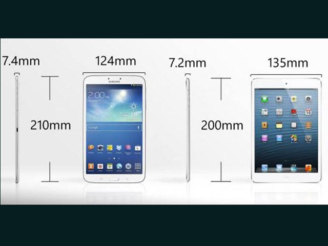 एप्पल आईपैड मिनी vs सैमसंग गैलेक्सी टैब3