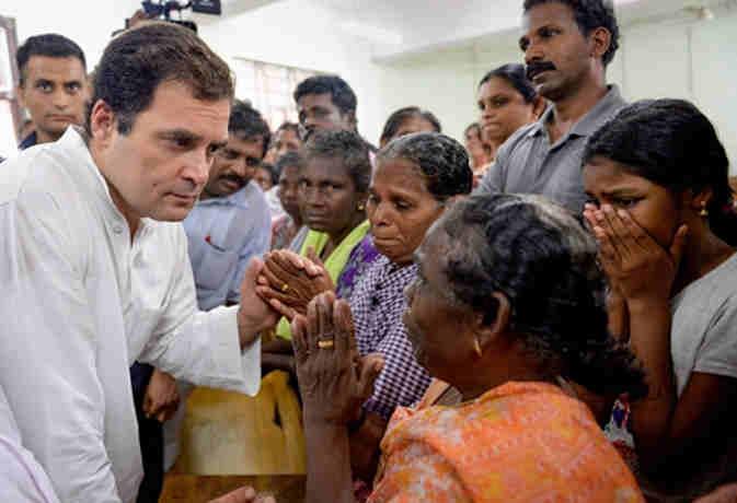केरल में राहुल गांधी ने किया एेसा काम, जिसके लिए उन्होंने हेलीकाॅप्टर में बैठ किया 30 मिनट इंतजार