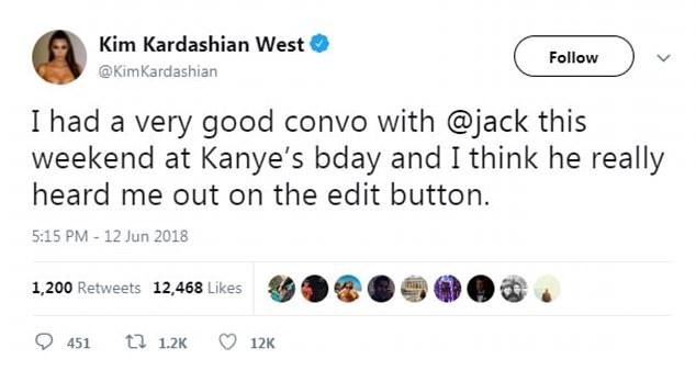 अब ट्वीट में जुड़ जाएगा edit बटन क्योंकि किम कार्दाशियन ने twitter सीईओ से कह दी है यह बात