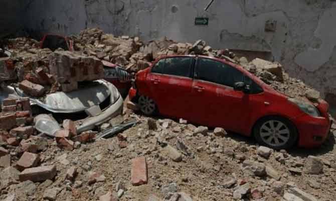 तस्वीरें: मेक्सिको में भयंकर तबाही का भूकंप