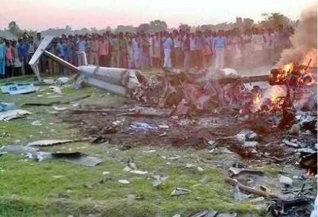 बरेली: सेना के हेलीकॉप्टर की उड़ी धज्जियां, पायलट समेत तीन की मौत