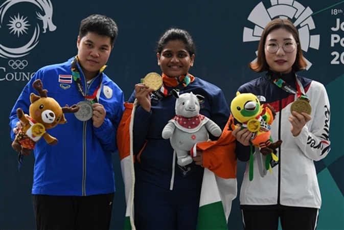 एशियन गेम्स में राही जीवन सर्नोबत ने गोल्ड जीतकर भारत को दिलाया 11वां पदक