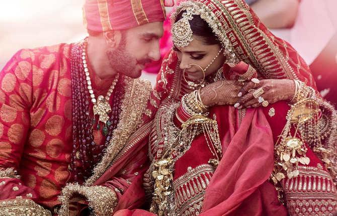 deepveer wedding : देखें दीपिका-रणवीर की शादी की पहली तस्वीरें,सिंधी और कोंकणी वेडिंग लुक में नजर आया ये कपल